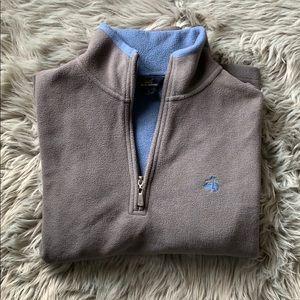 Brooks Brothers Men's Fleece Zip Pullover